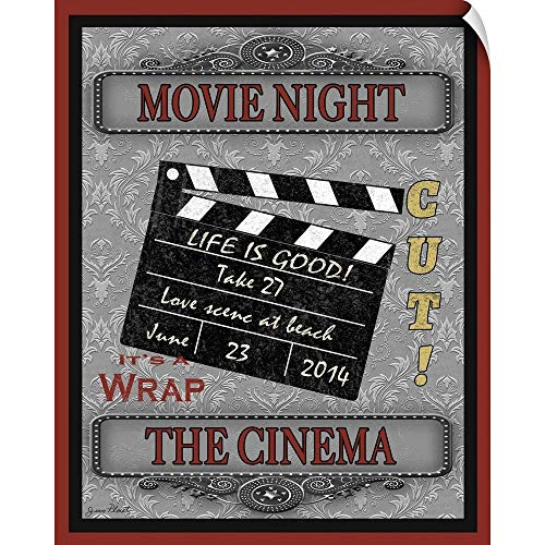 CANVAS ON DEMAND Movie Night-Movie Wall Decal, 11'x14'