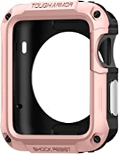 Spigen Tough Armor Designed for Apple Watch Case for 42mm Series 3 / Series 2 / Series 1 and Built in Screen Protector - Rose Gold