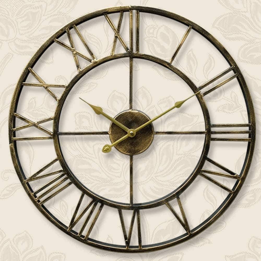 Decoration Wall Super intense SALE Clock 5 ☆ popular Vintage 3D Silen Roman Numerals