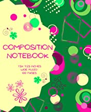 Composition Notebook: WIDE ruled lined paper for homeschool vocational in-person or on-line semester or term class, adult ...