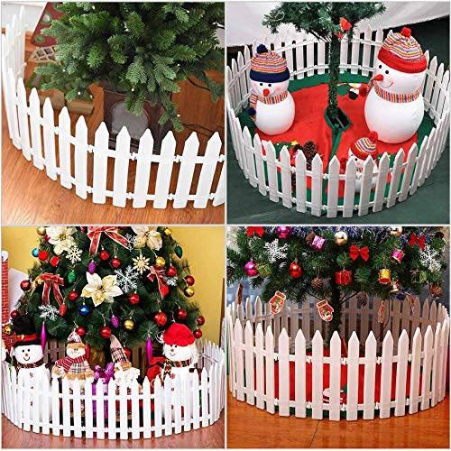 Tony plate 12 Unids/Set Valla De Piquete De Madera Decorativa Miniatura Hogar Jardín Árbol De Navidad Decoración De Fiesta De Boda