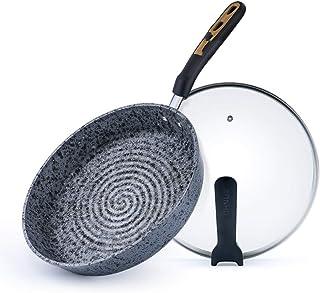 CRRQQ Cacerolas de Granito, sartenes sin Humos, Olla Universal para Cocina de Gas
