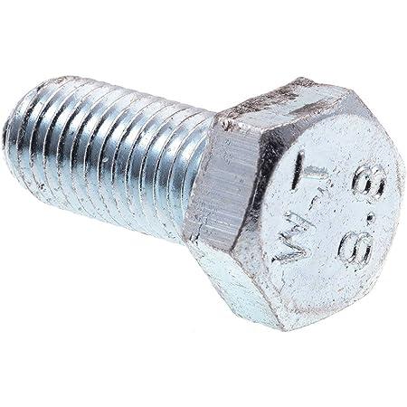4pcs M7 hex screw bolt hexagon head screws bolts zinc plating 8.8 grade