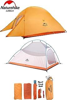 Naturehike CloudUp2アップグレード版 テント 2人用 コンパクト 自立式 簡単 超軽量 4シーズン 防風 防水 防災 1年保証(専用グランドシート/収納袋付)