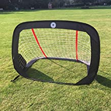 Kidseden 4FT Foldable Soccer Goals Children Pop-Up Play Goal for Outdoors Portable Square Soccer Goal with Carrying Bag Practice Training Sports Gift Idea for Kids
