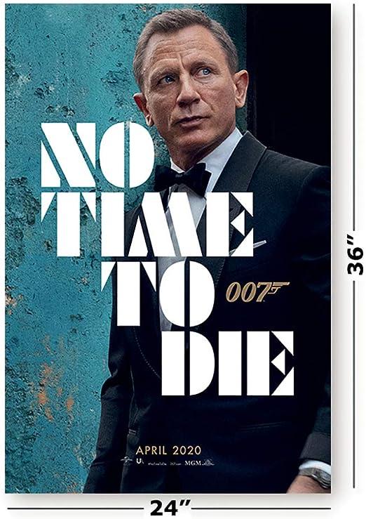 "004 007 No Time to Die James Bond Daniel Craig Movie 24/""x14/"" Poster"