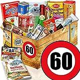Süßigkeiten Box - DDR Korb XXL - Zahl 60 - Geburtstags Geschenk Mutter