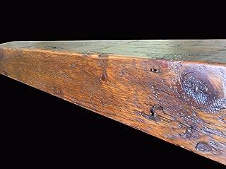Reclaimed Barnwood Beam Fireplace Mantel (Wood, 4
