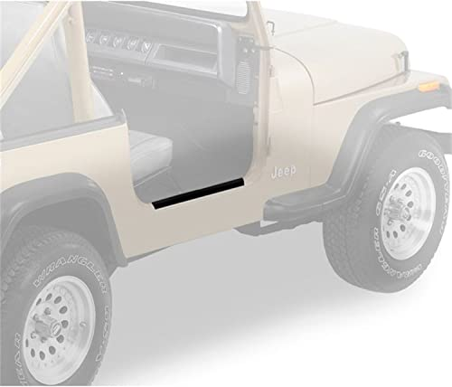 RAMPAGE PRODUCTS 7686 Black Steel Entry Guard for 1997-2006 Jeep Wrangler TJ