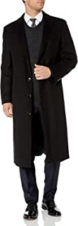 Men's Overcoat Single Breasted Luxury Wool/Cashmere Full Length Topcoat