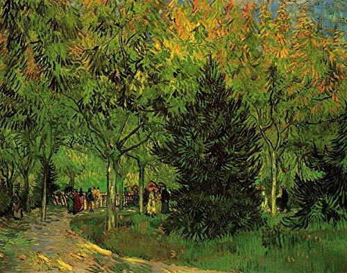 JCCOZ -P A Lane in The Public Garden at Arles - Rompecabezas de madera de 300/500/1000 piezas para adultos y niños, alivio del estrés de Van Gogh (tamaño : 1000 piezas)