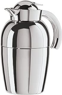 Oggi (6515.0 Senator Carafe with Press Button Top and Glass Liner, 1-Liter, Silver
