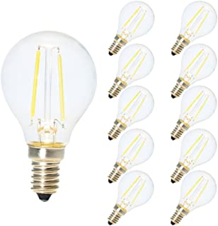 10X 2W G45 LED Filamento Mini globo bulbo Blanco frío 6500K Pequeño Edison Tornillo E14 LED antiguo Claro pelota de golf 20W incandescente equivalente (no regulable)