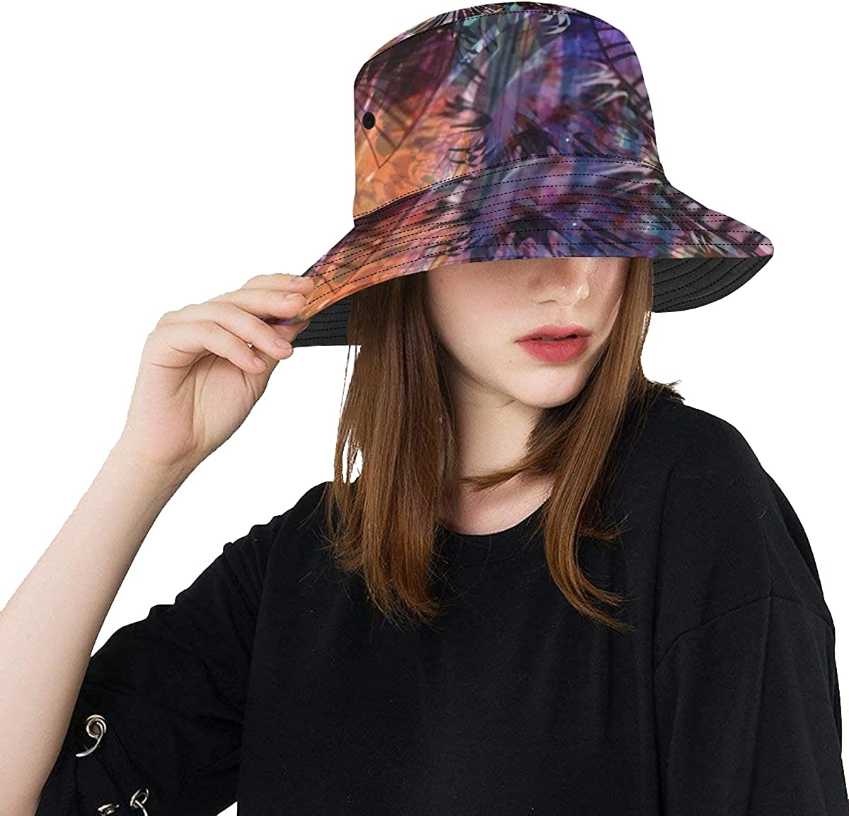Unique Bucket National uniform free shipping Hat Dark Floral Light Great interest Casual Pack Elements Texture