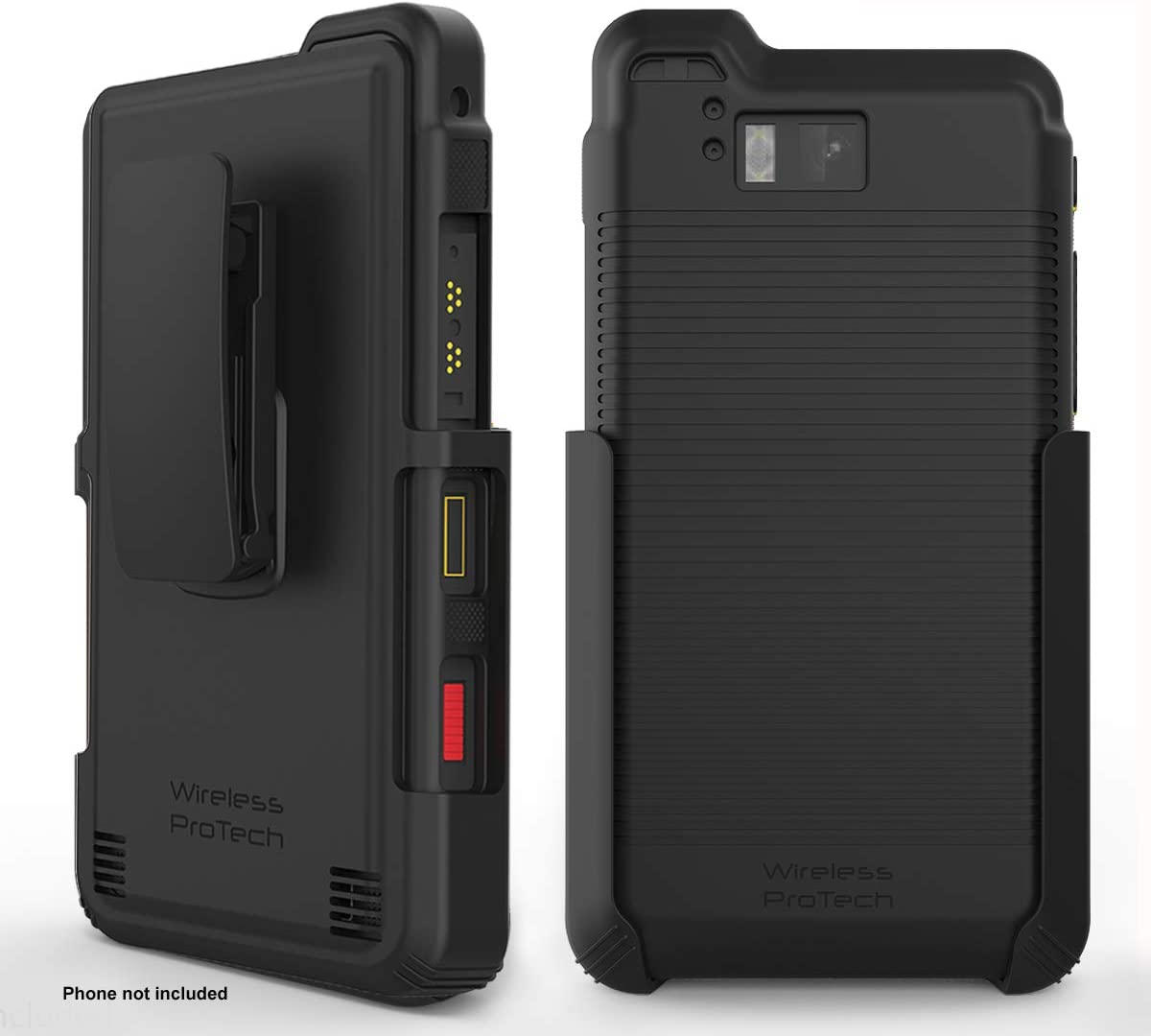 Wireless ProTech Case with Clip Compatible with Sonim XP8 Phone Model XP8800. Heavy Duty Rotating Belt Clip Holster and Durable Flexible Protective Case Combo (Black)