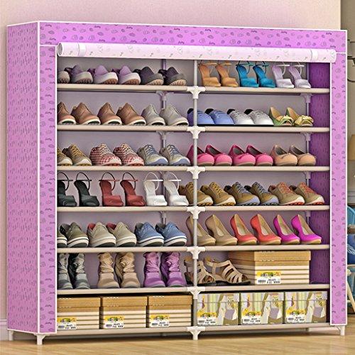 Chaussure Simple Shoebox Couches Multiples Tissu en Acier Tuyau Anti-poussière Ensemble économique Porte Pliable (Couleur : #3)