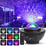 Star Projector Night Light, Swonuk 3 in 1 Ocean Wave Sky Projector Light, Music Player Sleep Night Lamp, 21 Color Changing Rotatable Starry Light Projector, Remote Control with Timer for Kids Adults