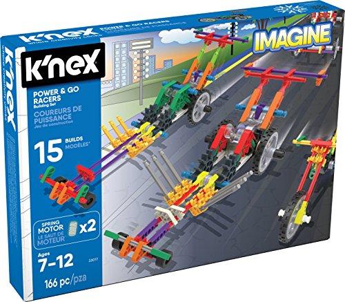 K'Nex Imagine – Juego de construcción Power & Go Racers – 166 Piezas – a Partir de 7 años
