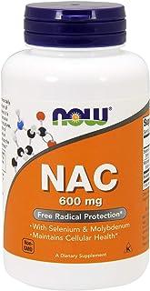 Now NAC 600 mg, 400 Veg Capsules - N-Acetyl-Cysteine Enhanced with Selenium & Molybdenum