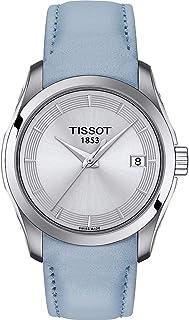 Tissot Couturier Lady Quartz Watch Light Blue T035.210.16.031.02