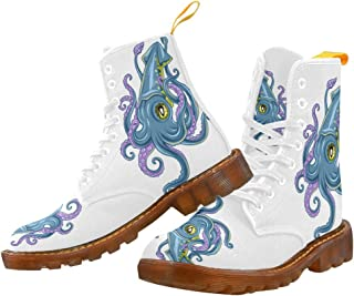 Artsadd Fashion Shoes Octopus Lace Up Boots For Women