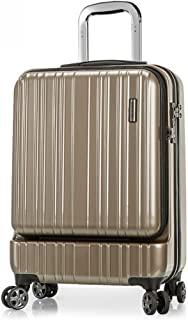 PC Business Trolley Case Suitcase Female Luggage Caster Box TSA Password Lock Mute Caster (Color : Gold, Size : 22 inches)