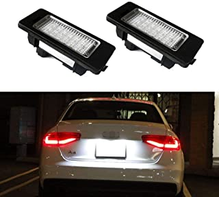 iJDMTOY OEM-Fit 3W Full LED License Plate Light Kit For Audi A4 A5 A6 A7 S4 S5 S6 S7 RS4 RS5 RS7 Q5, Powered by 24-SMD Xenon White LED & CAN-bus Error Free
