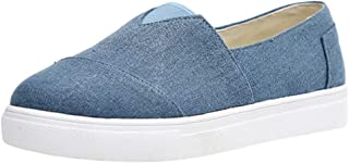 Pongfunsy Womens Canvas Shoes, Summer Casual Flat Shoes Lazy Comfy Sport Walking Shoes Outdoors Sneakers for Students