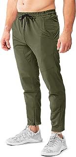 FASKUNOIE Men's Zipper Ankle Joggers Gym Track Sweatpants Elastic Cotton Pants with Pockets