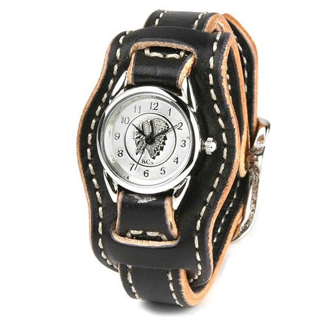 抑圧するバング真珠のようなKC,s(ケイシイズ) 腕時計 レディース 金属アレルギー ムーブメント 文字盤 本革 牛革 ハンドメイド バックル kcs ケーシーズ : レザーブレスウォッチ レンジャー レディース(ブラック?白文字盤)