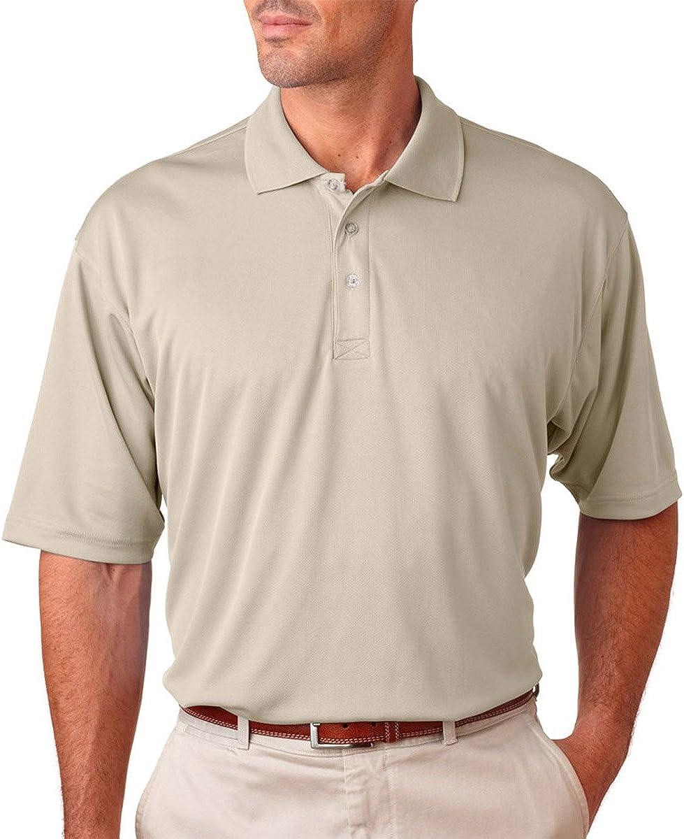 UltraClub Men's Cool & Dry Tall Performance Mesh Sports Polo Shirt