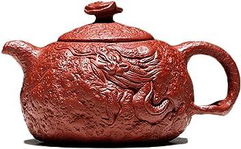 Teapots Purple Sand Teapot Vintage Elegant Teapot Teapot Pots Tea Maker Mini Teapot Pure Handmade Teapot (Color : Red, Size : 240cc)