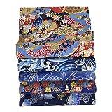 starshop 5 unidades de 50 cm x 50 cm de tela japonesa de cerezo con diseño floral...