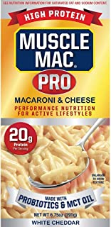 Sponsored Ad - Muscle Mac PRO, Macaroni & Cheese - Made With Real White Cheddar Cheese, Probiotics & MCT Oil, High Protein...