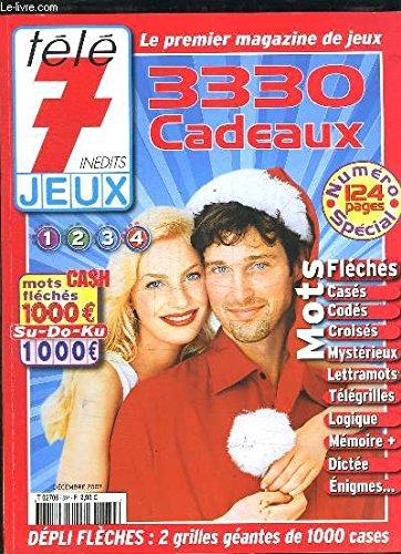 TELE 7 JEUX INEDITS. 3330 CADEAUX. DECEMBRE 2007.
