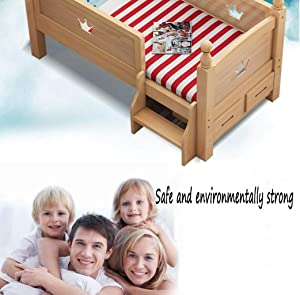 GHGJU Crib child bed princess bed single bed with guardrail widened bed small bed crib splicing bed Give your child comfortable sleeping environment  Color Wood  Size 150 40