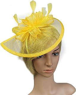 ASKLKD Femmes Bibi Veil Accessoires Cheveux Plume Perle Fleur Cocktail Clip Cheveux Vintage Élégant Fancy Hair Bands Hoop