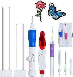 Magic Embroidery Pen,euow Punch Needle Pen Set Craft Tool-ABS Plastic Punch Needles DIY Craft for Embroidery Threaders DIY Sewing (Embroidery Pen Set)