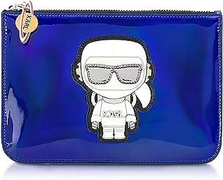 Karl Lagerfeld Women's 86KW3242316 Blue Leather Clutch
