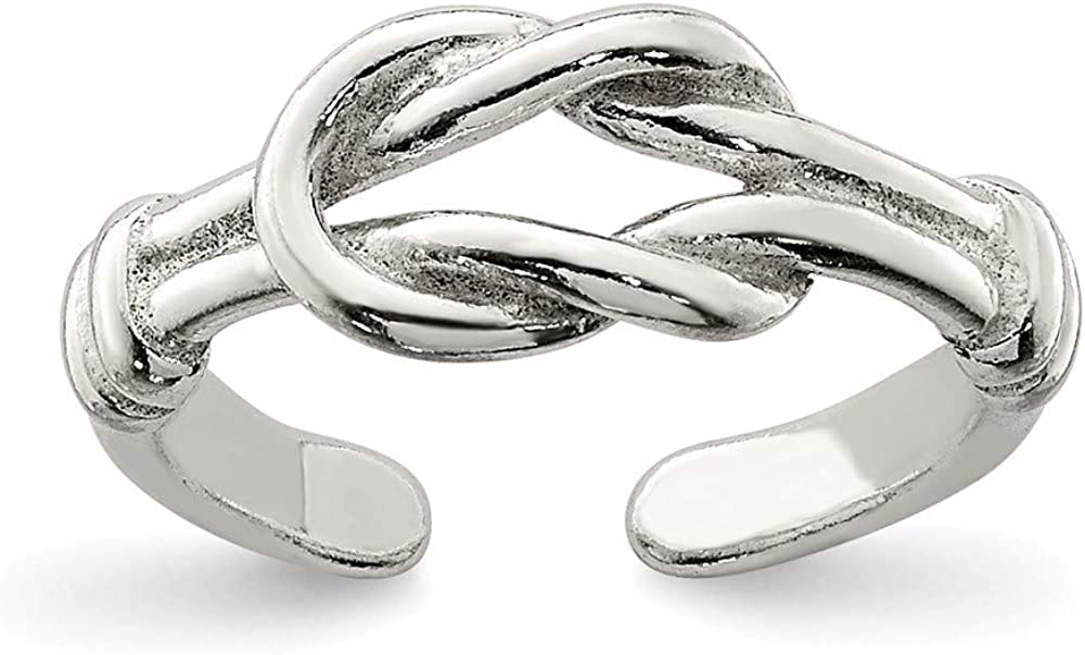 925 Sterling Silver Solid Love Knot grams 1.2 List price Jewelry G Popular brand in the world Toe Ring