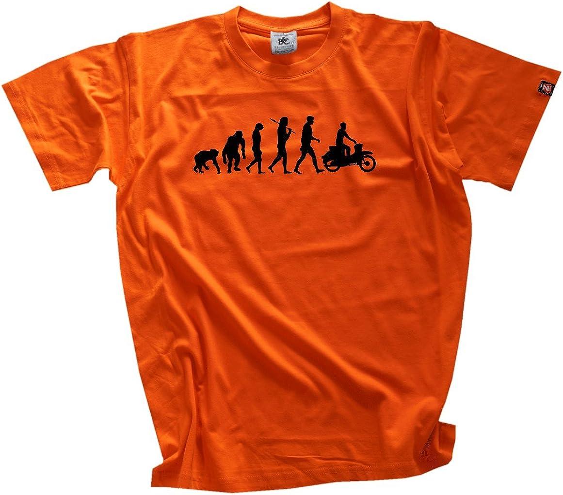 Shirtzshop Standard Edition DDR Moped Motorroller Scooter Evolution T-Shirt XXXL Camiseta, Hombre