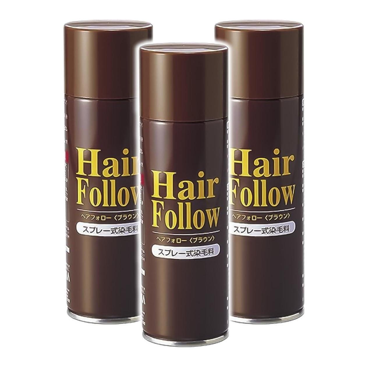 フルーツ野菜ブル羨望薄毛スプレー 3本セット ヘアフォロー HairFollow ブラウン 150g