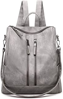 Sturdy Purse Leather Fashion Travel Casual Detachable Ladies Shoulder Handbag Women Backpack Large Capacity (Color : Gray, Size : 30X15X31cm)