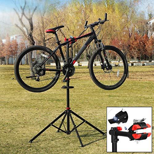 Fiets Montagestandaard - Hoogte verstelbaar, 360° draaibaar, met gereedschapsbakje en stuurhouder - Fietsreparatiestandaard voor racefiets, MTB fietsen - Decopatent