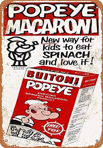 CHUNZO Popeye Macaroni Wand Zeichen Kreativität personalisierte Metall Plaque Kunst Vintage Dekoration Blatt Handwerk hängen Poster Cafe Bar Garage