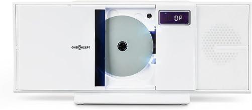 Oneconcept V-16-BT White Edition - Minicadena estéreo,