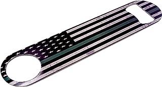 Thin Green Line Flag Speed Bottle Opener Heavy Duty Gift Military Veteran Federal Law Enforcement Border Patrol Park Ranger Game Warden