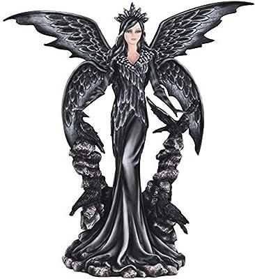 "Major-Q G8091998 25.5"" Dark Angel with Raven Statue Figurine Home Decor Sculptures Polyresin"