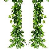 ATPWONZ 12 pcs Ivy Vine Garland Falso Artificial Colgante De La Planta Deja La Decoración del...
