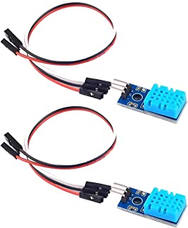 NOYITO DHT11 Digital Temperature Humidity Sensor Module 20-90% RH 0-50°C Single Bus Digital Temperature and Humidity Sensor Module for Arduino (Pack of 2)